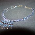 Hematite & Light Blue Tassle Choker