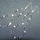 Lavender & Black Double Length Earrings