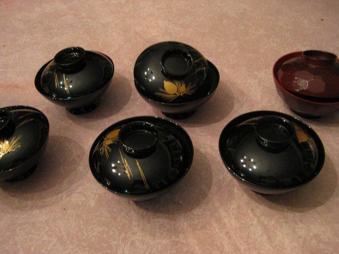Black Lacquer Soup Bowls