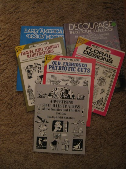 Collection of Dover clip art source books