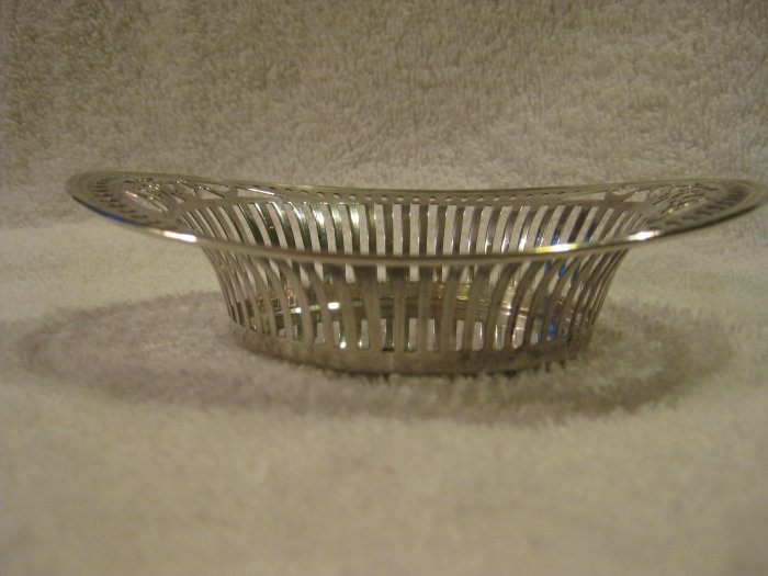 Small Sterling Reticulated Basket