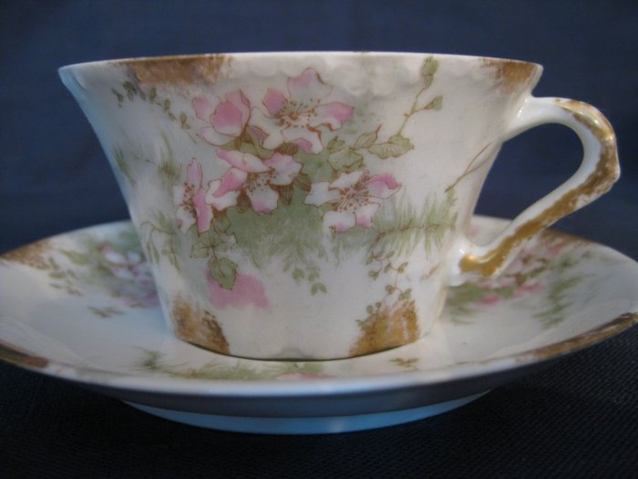 Theo Haviland Pink Apple Blossom Teacup