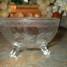 Vintage Cambridge 3 Footed Glass Bowl-Etch #405