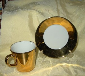 Vintage Langenthal Gold Cup & Saucer-Switzerland