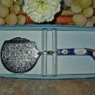 Decorative Cheese/Dessert Server-Porcelain Handle