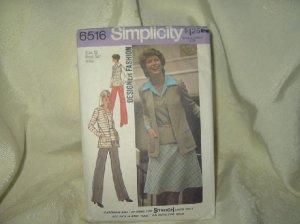 Vintage Simplicity Pattern #6516-Size 12