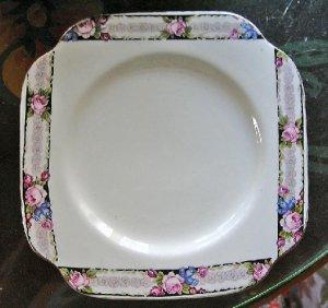 Antique Dessert China Plate-Morley Fox,c.1906