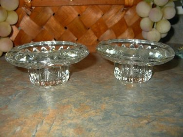 Vintage Firna Glass Candle Holders-Set Of Two