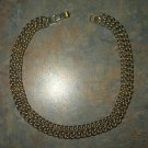 Vintage Heavy Double Row Brassy Metal Link Necklace