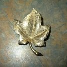 Vintage Charel Goldtone Leaf Pin/Brooch