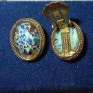 Vintage Mosaic Confetti Glass Earrings