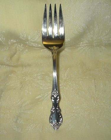 "Wm Rogers Extra Plate- GRAND ELEGANCE/ SOUTHERN MANOR  8-3/4"" Meat Fork"