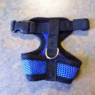 Mesh XS Dog/ Cat Size Harness - Blue With Adjustable Strap,New