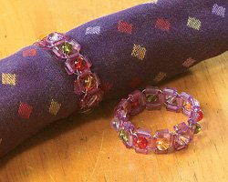 Set of 2 Beaded Napkin Rings