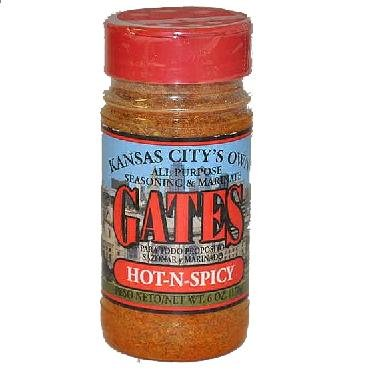 Gates BBQ Sauce All Purpose Bar-B-Que Seasoning & Marinade Hot-N-Spicy Barbecue
