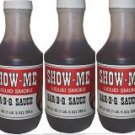 6 pack of Show-Me Liquid Smoke Bar-B-Que Sauce Pints 21 oz.