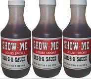 6 pack of Show-Me Liquid Smoke Bar-B-Que Sauce Pints 21 oz.