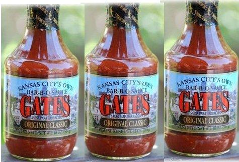 6 pack of Gates Original Kansas City Barbecue Sauce 18 oz. pints