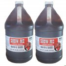 Two x One Gallon Show-Me Liquid Smoke Bar-B-Que Sauce 10 lbs bottles