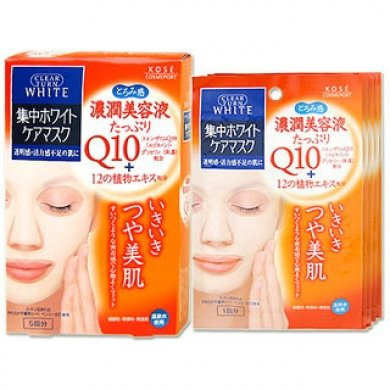 KOSE Clear Turn White Q10 Face Mask