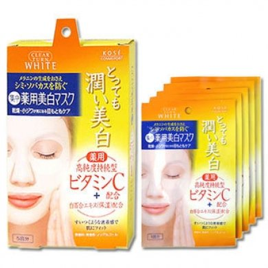 KOSE Clear Turn Vitamin C White Facial Mask