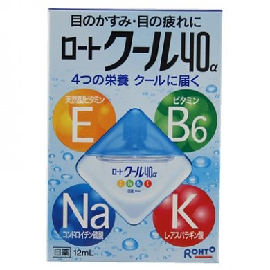 ROHTO Cool40 Eyedrops (for both contact lens and non-contact lens users)