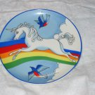 vintage unicorn plate #2 FREE US SHIPPING