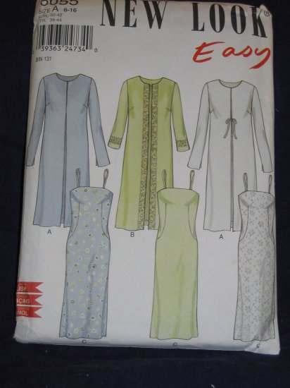 New look pattern 6055 Size A 6-16 uncut out of print pattern FREE US SHIPPING