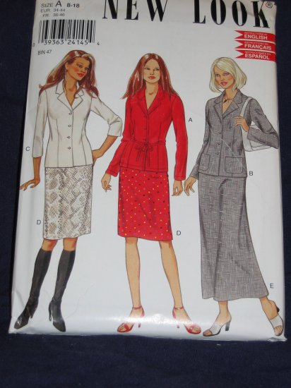 New Look pattern 6007 Size A 8-18 uncut out of print pattern FREE US SHIPPING
