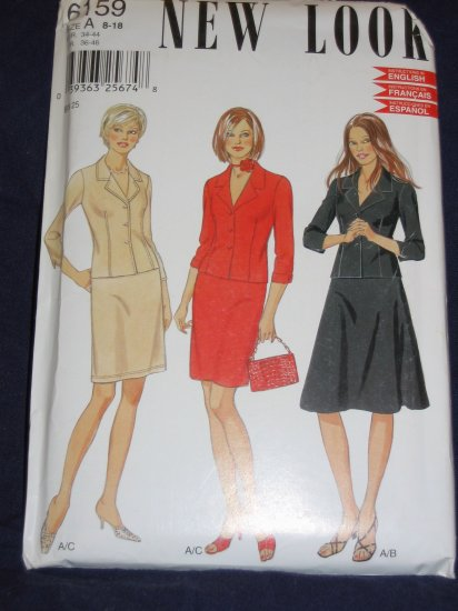 New Look  pattern  6159 Size A 8-18 uncut pattern out of print FREE US SHIPPING