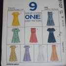 McCalls 8107 9 dresses Size B 8/10/12 uncut pattern FREE US SHIPPING