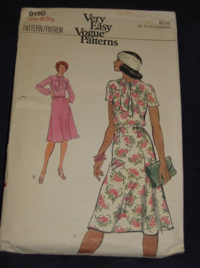 VTG undated Vogue pattern 9150 size 20.5 Out Of Print FREE US SHIPPING