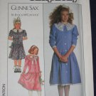 1987 GUNNE SAX girls dress pattern Simplicity 8193 size 8/10/12 uncut out of print FREE US SHIPPING