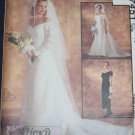 VTG Lace Wedding Dress pattern McCalls 7451 uncut Size 16 FREE US SHIPPING