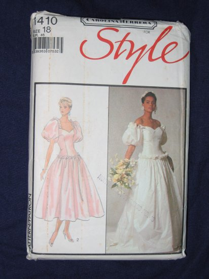 VTG Carolina Herrera WEDDING DRESS pattern Style 1410 size 12 FREE US SHIPPING
