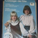 VTG girls blouse smocking pattern sizes 6-14 unopened out of print FREE US SHIPPING