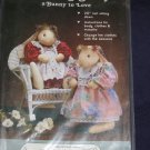 "VTG 20"" Bunny Doll Pattern 1987 uncut bunny and clothes patterns included FREE US SHIPPING"