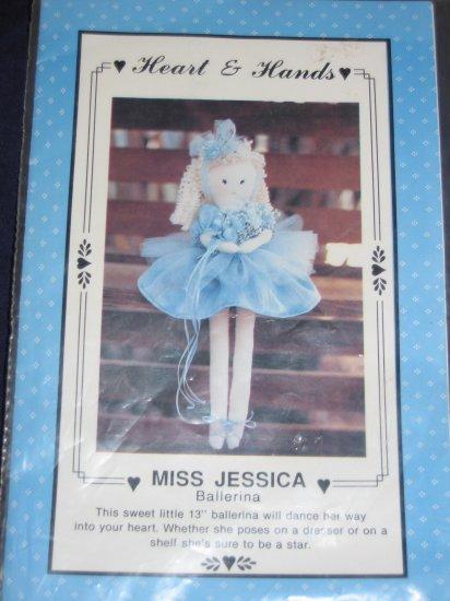 "VTG ""Miss Jessica"" 13"" ballerina soft doll pattern uncut FREE US SHIPPING"