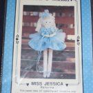 "VTG ""Miss Jessica"" 13"" ballerina soft doll pattern uncut FREE US SHIPPING"