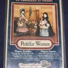 "1985 VTG ""Peddlar Women"" 12"" soft doll uncut pattern FREE US SHIPPING"