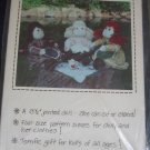 "1980 uncut VTG 13.5"" Jointed soft doll pattern FREE US SHIPPING"