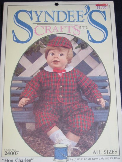 "Syndee's Crafts doll clothes pattern uncut ""Eton Charlie"" #24007 FREE US SHIPPING"
