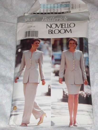 BUTTERICK #3849 ladies NOVIELLO BLOOM SUIT pattern12-16 uncut FREE US SHIPPING
