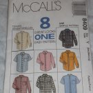 Mens shirts McCalls 8409 Size Medium. Great for Western or Rockabilly FREE US SHIPPING