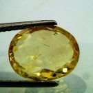 8.15 Ct Unheated Untreated Natural Ceylon Yellow Sapphire A+++++