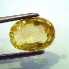 4.50 Ct Unheated Natural Ceylon Yellow Sapphire/Pukhraj AAA