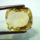 5.55 Ct Unheated Natural Ceylon Yellow Sapphire/Pukhraj AAA