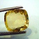 5.80 Ct Unheated Natural Ceylon Yellow Sapphire/Pukhraj AAAAA+++