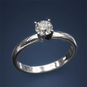 Mine Cut Diamond Ring 0.5ct G SI 18k White Old Jewellry Diamond Anniversary Gift