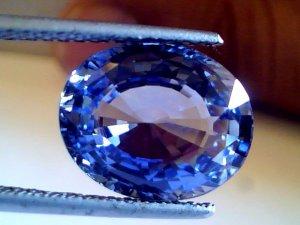 8.29 Ct Top Grade Untreated Natural Ceylon Blue Sapphire AAAA